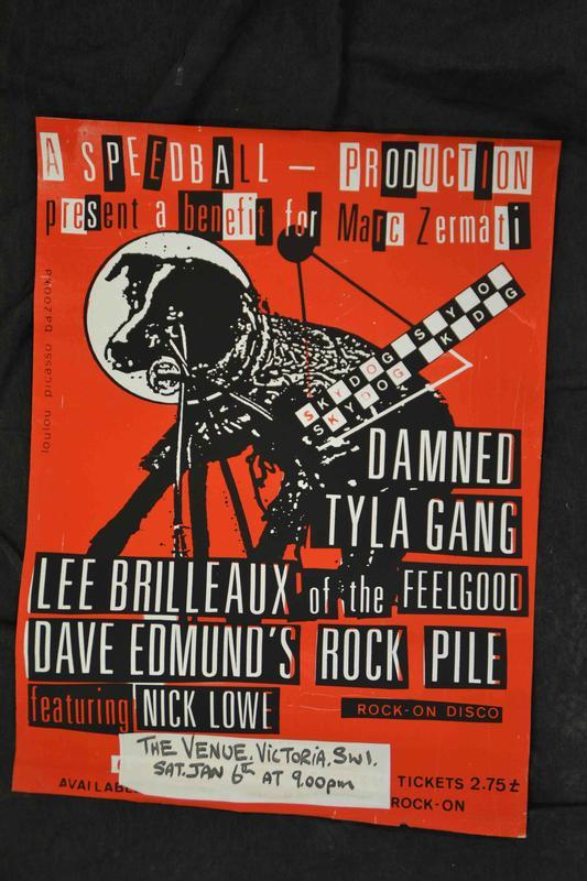 Live Poster London The Venue 6th of January 1979     rare original punk artefact