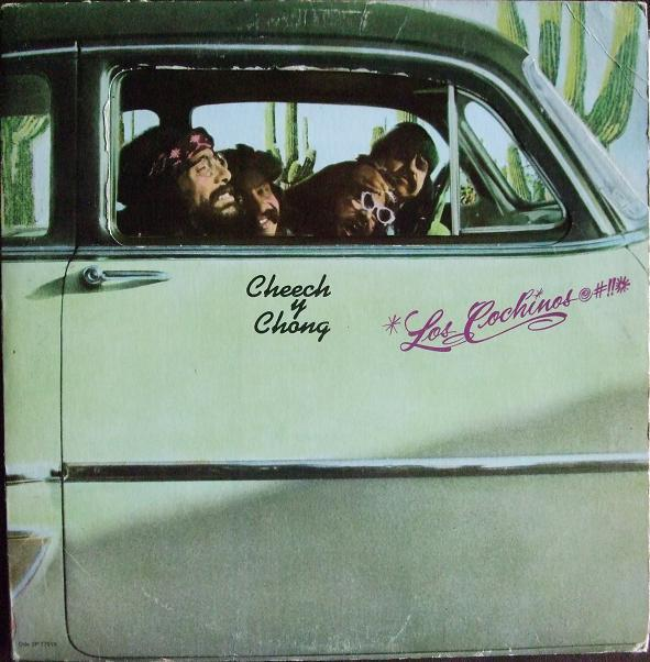 LOS COCHINOS  original 1973 US gimmick sleeve, Drug-liberated lunatics to say the least.