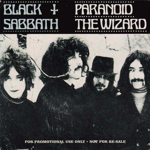 PARANOID/The Wizard  Promo only with picture sleeve, Released  y2k to promote the Best of compilatio