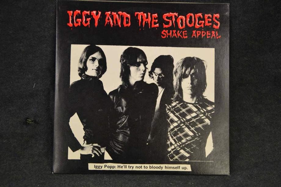 SHAKE APPEAL   4 songs from Raw Power before Bowie mix Red vinyl Blank record label Mint