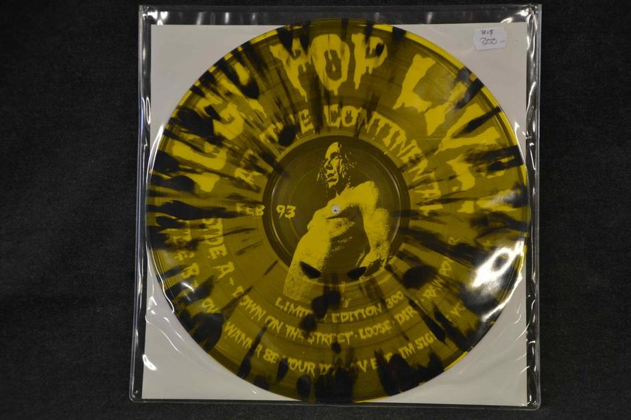 LIVE AT THE CONTINENTAL     1993 Pic disc(?) Yellow/black see through vinyl Lim ed 800 Mint