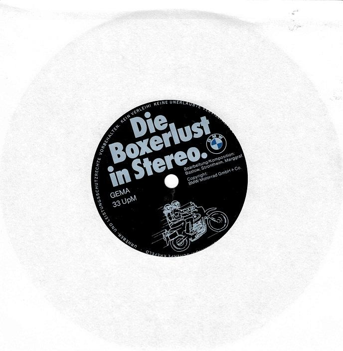 DIE BOXERLUST IN STEREO Flexi Disc