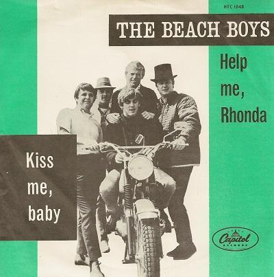 HELP ME, RHONDA / Kiss Me, Baby   Dutch original