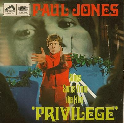 PAUL JONES SINGS SONGS FROM THE FILM PRIVILEGE E.P.    Dutch original