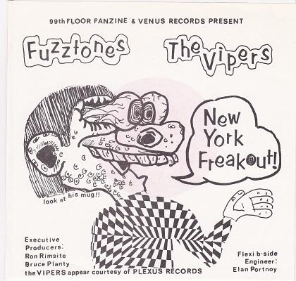NEW YORK FREAKOUT!   Hyperrare red compilation flexi-disc