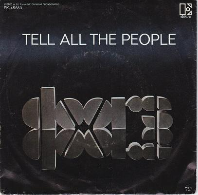 TELL ALL THE PEOPLE / Easy Ride   US original