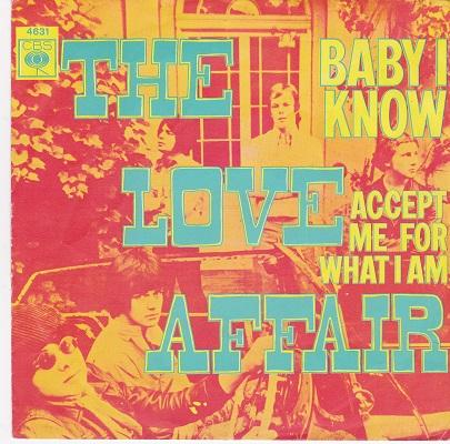 BABY I KNOW / Accept Me For What I Am   Dutch pressing