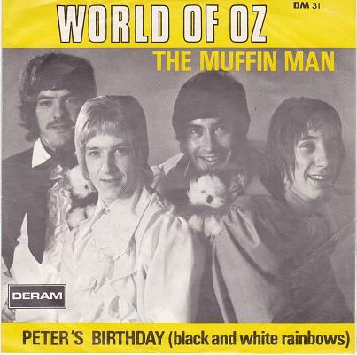 THE MUFFIN MAN / Peter's Birthday (Black and White Rainbows)   Belgian pressing