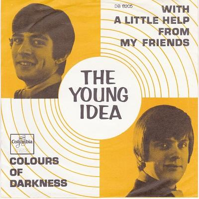 WITH A LITTLE HELP FROM MY FRIENDS / Colours Of Darkness   Dutch pressing