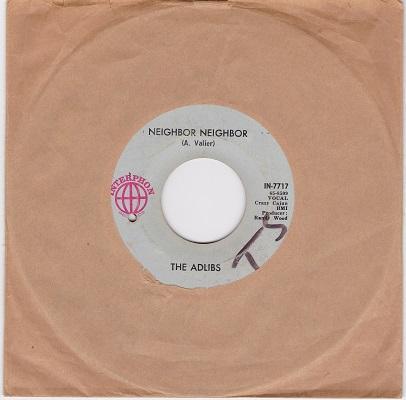 NEIGHBOR NEIGHBOR / Lovely Ladies   US pressing