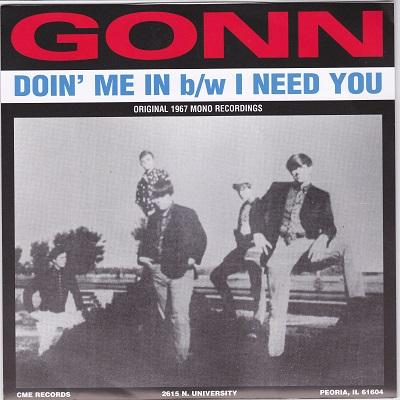 DOIN'' ME IN / I Need You   Blue vinyl