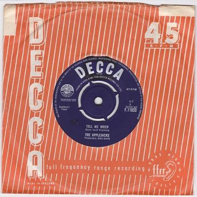 TELL ME WHEN / Baby Jane   UK pressing