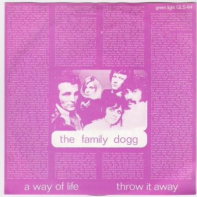 A WAY OF LIFE / Throw It Away   Dutch pressing
