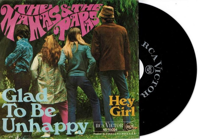 GLAD TO BE UNHAPPY / Hey Girl