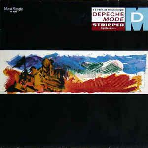 "DEPECHE MODE - STRIPPED German 1990 re-issue (12"")"
