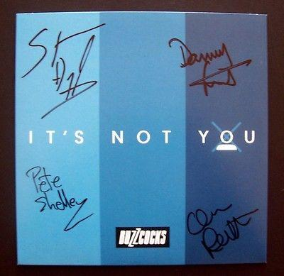 "BUZZCOCKS - IT'S NOT YOU / Generation Suicide Signed by whole band. #100 of 400 copies (7"")"