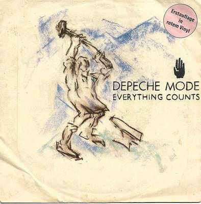 "DEPECHE MODE - EVERYTHING COUNTS German red vinyl (7"")"