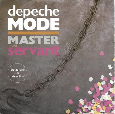 "DEPECHE MODE - MASTER AND SERVANT German red vinyl (7"")"