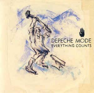 "DEPECHE MODE - EVERYTHING COUNTS Swedish, large centre (7"")"