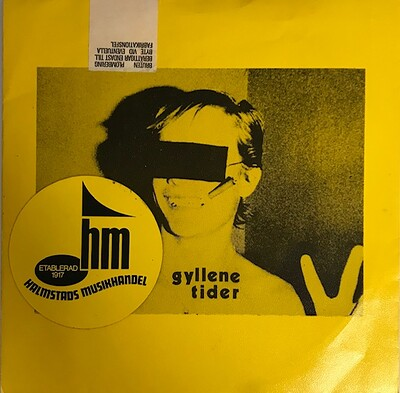 "GYLLENE TIDER - BILLY + 4 Rare Gessle debut EP! (7"")"