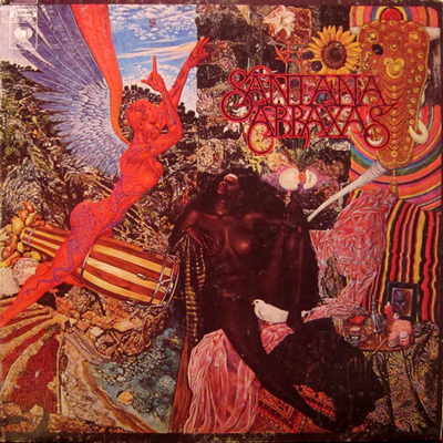 SANTANA - ABRAXAS USA first pressing, Gatefold sleeve and Poster (LP)