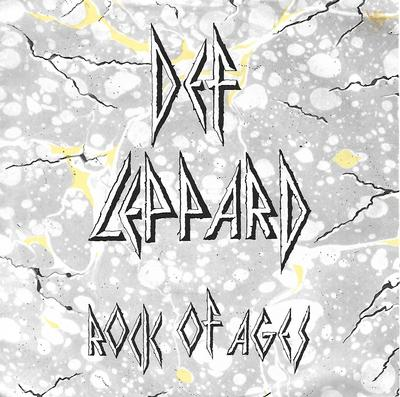 "DEF LEPPARD - ROCK OF AGES / ACTION! NOT WORDS (7"")"