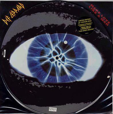 "DEF LEPPARD - MAKE LOVE LIKE A MAN Numbered Picture Disc (12"")"
