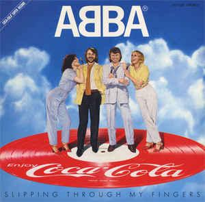 """ABBA - SLIPPING THROUGH MY FINGERS Very nice Japanese promo-only picture disc! (7"""")"""