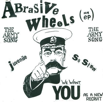 """ABRASIVE WHEELS - THE ARMY SONG (ABW EP) UK Pressing With White Labels (7"""")"""