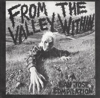 "FROM THE VALLEY WITHIN. - V/A 80's Hardcore Compilation (7"")"