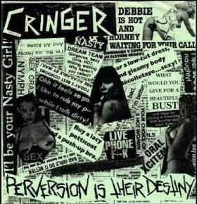 """CRINGER - PERVERSION IS THEIR DESTINY Beige/Green Seeve (7"""")"""