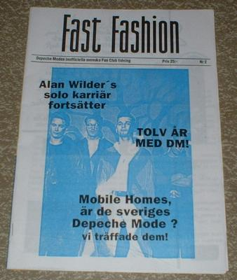DEPECHE MODE - FAST FASHION # 2 Rare Swedish 1992 Fan Club magazine! (MAG)