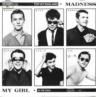 "MADNESS - MY GIRL / IN THE RAIN Rare German promo ps! (7"")"