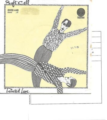 "SOFT CELL - TAINTED LOVE / WHERE DID OUR LOVE GO German ps, review copy with promo/infosheet! (7"")"