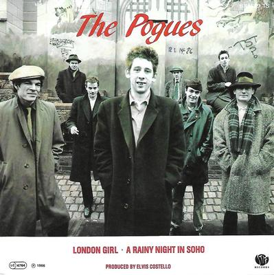 "POGUES, THE - LONDON GIRL / A RAINY NIGHT IN SOHO Rare German promo edition, ps! (7"")"
