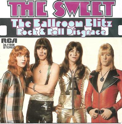 "SWEET, THE - BALLROOM BLITZ / ROCK & ROLL DISGRACE German ps, black labels (7"")"