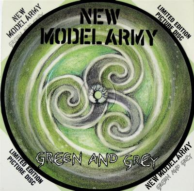 """NEW MODEL ARMY - GREEN AND GREY / The Charge (Live) Picture Disc (7"""" PIC DISC)"""