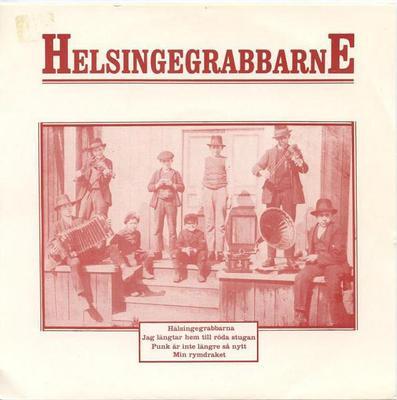 "HELSINGEGRABBARNE - HÄLSINGEGRABBARNA Rare With Insert Minimal / punk (7"")"