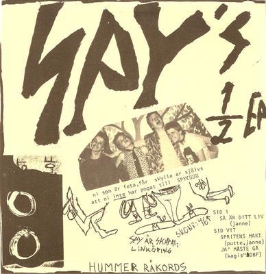 "SPY - SPY'S ½ EP Mega Rare Swedish Punk, Beige Sleeve Version (7"")"
