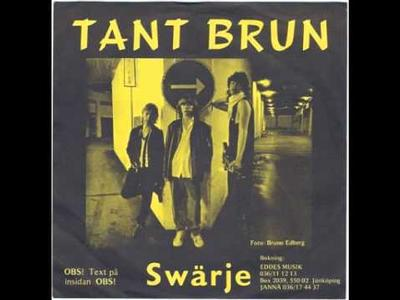 """TANT BRUN - SWÄRJE / Lördakväll (7"""")"""