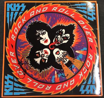 KISS - ROCK AND ROLL OVER Spanish First Pressing With Innersleeve, Signed By The Whole Band! (LP)