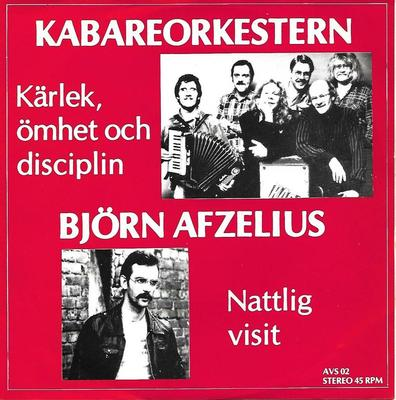 "MIKAEL WIEHE & KABARÉORKESTERN / BJÖRN AFZELIUS - KÄRLEK, ÖMHET OCH DISCIPLIN / NATTLIG VISIT Rare split 7""! (7"")"