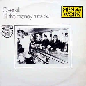 "MEN AT WORK - OVERKILL Dutch maxi single, unplayed (12"")"