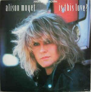 "MOYET, ALISON - IS THIS LOVE? Dutch maxi single, Swedish promostamp (12"")"