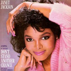 "JACKSON, JANET - DON'T STAND ANOTHER CHANCE Dutch maxi, Swedish promostamp (12"")"