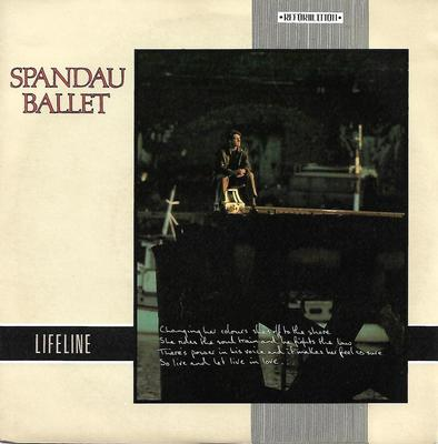 "SPANDAU BALLET - LIFELINE / LIVE AND LET LIVE Swedish ps (7"")"