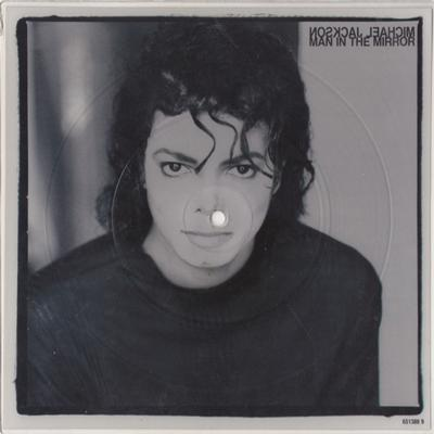 "MICHAEL JACKSON - MAN IN THE MIRROR 8"" Shaped Picture Disc (7"")"