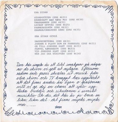 """VARIOUS ARTISTS (POP / ROCK) - SILENCE PROMO SAMPLER Ep med smakprov från Skivbolaget Silence, (7"""")"""
