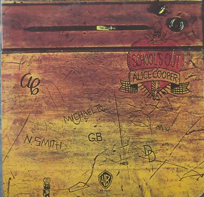 COOPER, ALICE - SCHOOLS OUT Scandinavian original school table foldout sleeve (LP)