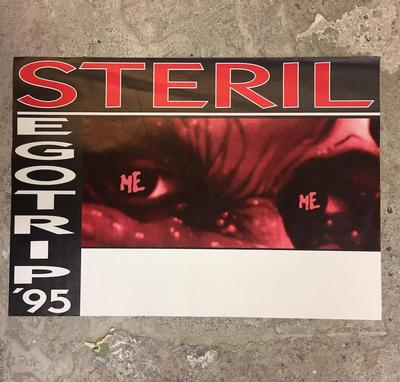 "STERIL - EGOTRIP '95 Poster For The Tour Promoting The 1994 Album ""Egoism"" (POS)"